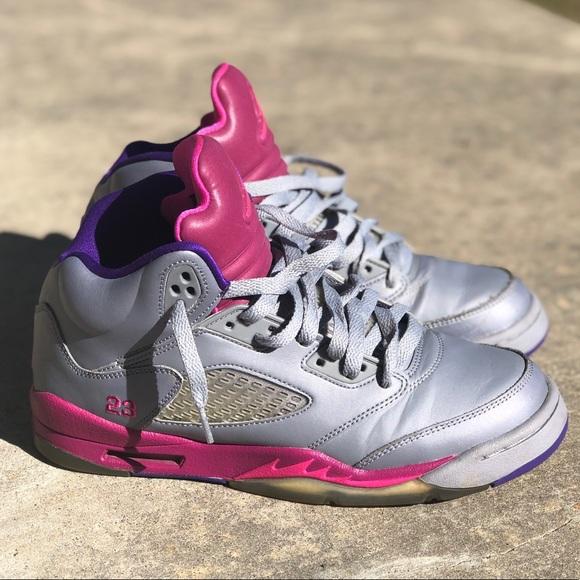 Jordan Shoes Sale Air Jordan Retro 5 Cement Gray Pink Shoes Poshmark